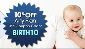 10% off any plan.  Use Coupon Code: BIRTH10